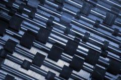 Vieux rouleaux en caoutchouc des imprimantes à laser et des copieurs photo libre de droits