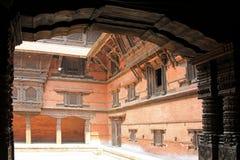 Vieux Royal Palace à Katmandou, Népal Images libres de droits