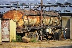 Vieux réservoirs de camion Images libres de droits
