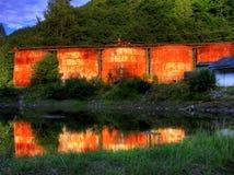 Vieux réservoirs de stockage Photographie stock libre de droits
