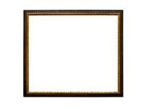 Vieux rétro cadre de tableau, d'isolement sur le blanc Photographie stock