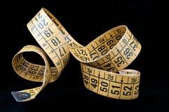 Vieux ruban métrique de mise sur pied Photo libre de droits