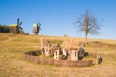 Vieux rucher près du village Photographie stock