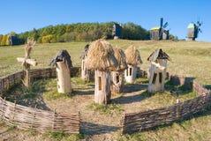 Vieux rucher près du village Image libre de droits