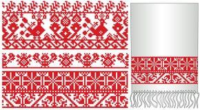 Vieux russes ukrainiens brodent illustration stock
