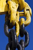 Vieux Rusty Metal Chain Industrial Concept Images stock