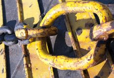 Vieux Rusty Metal Chain Industrial Concept Photo stock