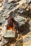 Vieux Rusty Padlock avec un coeur Images libres de droits