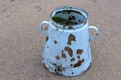 Vieux Rusty Po Images libres de droits
