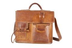 Vieux sac d'épaule de Brown Images libres de droits