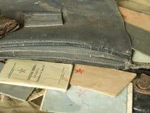 Vieux sac d'armée Images stock