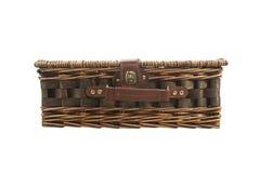 Vieux sac en osier Image stock