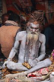 Vieux Sadhu indien. image stock