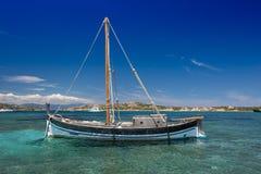 Vieux sailbaot de vintage Image libre de droits