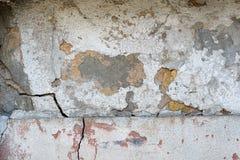 Vieux, sale mur peint sale de plâtre images stock