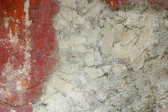 Vieux, sale mur peint sale de plâtre photo stock