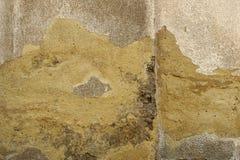 Vieux, sale mur peint sale de plâtre images libres de droits
