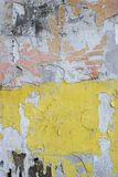 Vieux, sale mur peint sale de plâtre image libre de droits