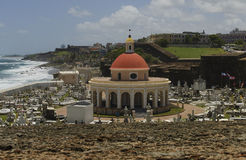 Vieux San Juan Coastal View du Porto Rico photos stock