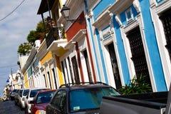 Vieux San Juan - couleurs des Caraïbes ! Photos libres de droits