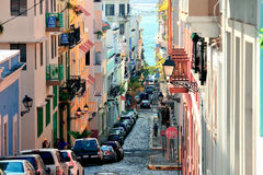 Vieux San Juan du centre Image stock