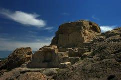 Vieux sanctuaire thracian en montagne de Rhodopes Images libres de droits