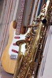 Vieux saxophone sale Image libre de droits