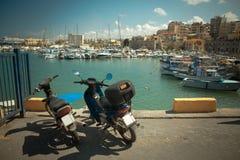 Vieux scooter deux Photo libre de droits