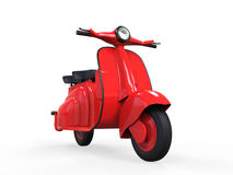 Vieux scooter rouge de cru Photo stock