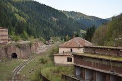 Vieux secteur de lac de mine des jours d'été Photographie stock