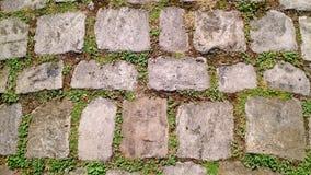 Vieux sentier piéton de pavé rond Image stock