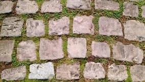 Vieux sentier piéton de pavé rond Images libres de droits