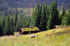 Vieux shieling, Norvège Photographie stock libre de droits