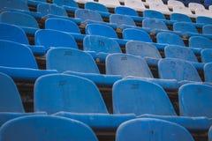 Vieux sièges de stade Photos libres de droits