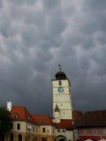 Vieux Sibiu, Roumanie Images libres de droits
