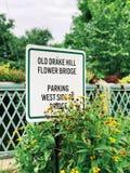 Vieux sig de Drake Hill Flower Bridge photographie stock