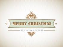 Vieux signe élégant de Noël. Photographie stock libre de droits