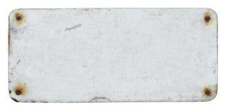 Vieux signe blanc Photographie stock