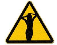 Vieux signe de danger Image libre de droits