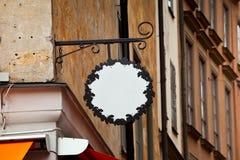 Vieux signe de fer de forge avec l'espace vide photo libre de droits