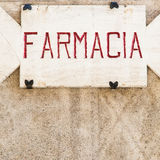 Vieux signe de pharmacie Images libres de droits