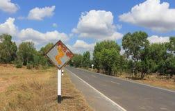 Vieux signe de route photo stock