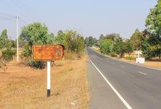 Vieux signe de route Image stock