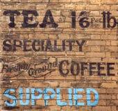 Vieux signe de thé photo libre de droits