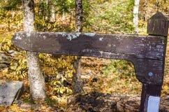 Vieux signe directionnel en bois vide Images stock