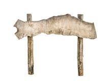 Vieux signe en bois Photo libre de droits