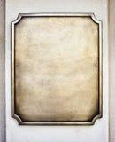 Vieux signe en métal image libre de droits