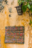 Vieux signe grec Photos stock