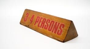 Vieux signe réservé en bois Photos libres de droits