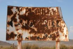 Vieux signe rouillé Photo libre de droits